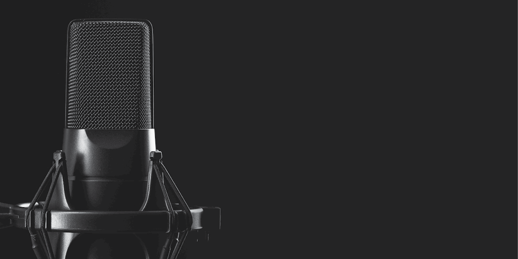 Debt collection podcast microphone